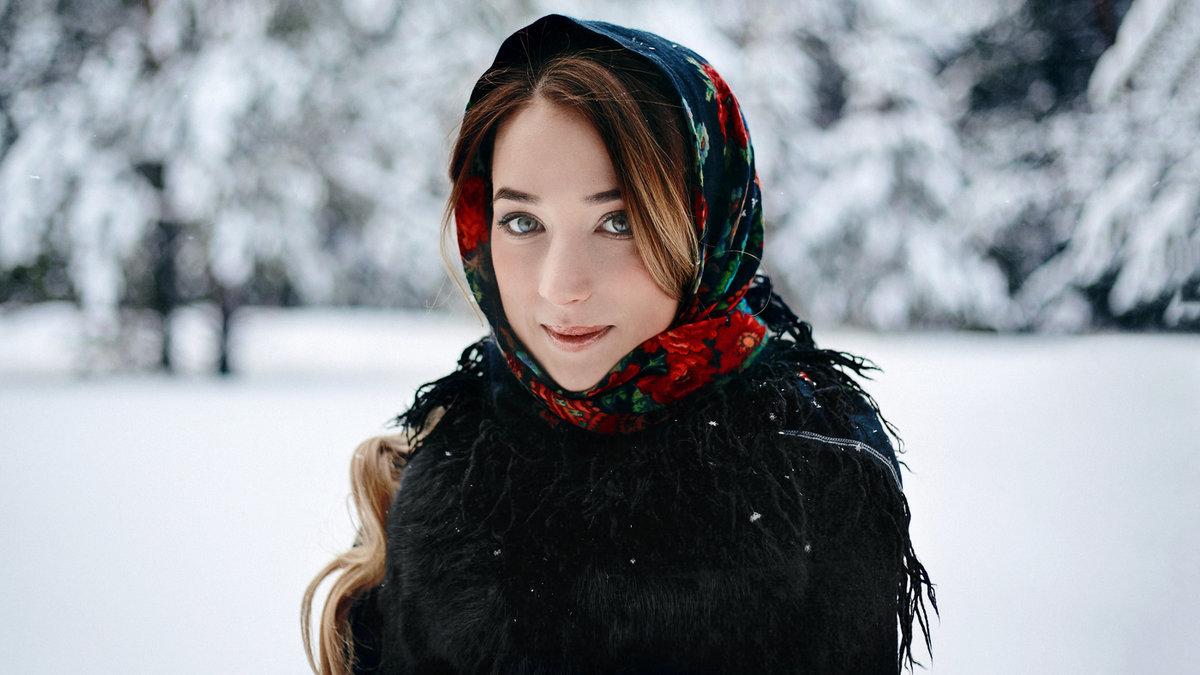 Зимний пейзаж в деревне фото необходимо