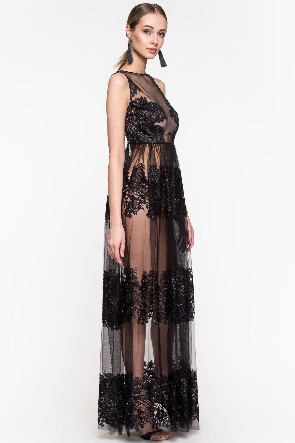 них, черное прозрачное платье возможность