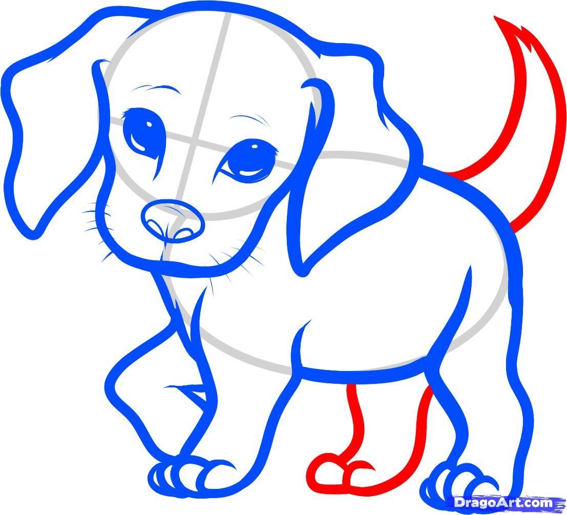 Собачки картинки для срисовки, гвоздикой
