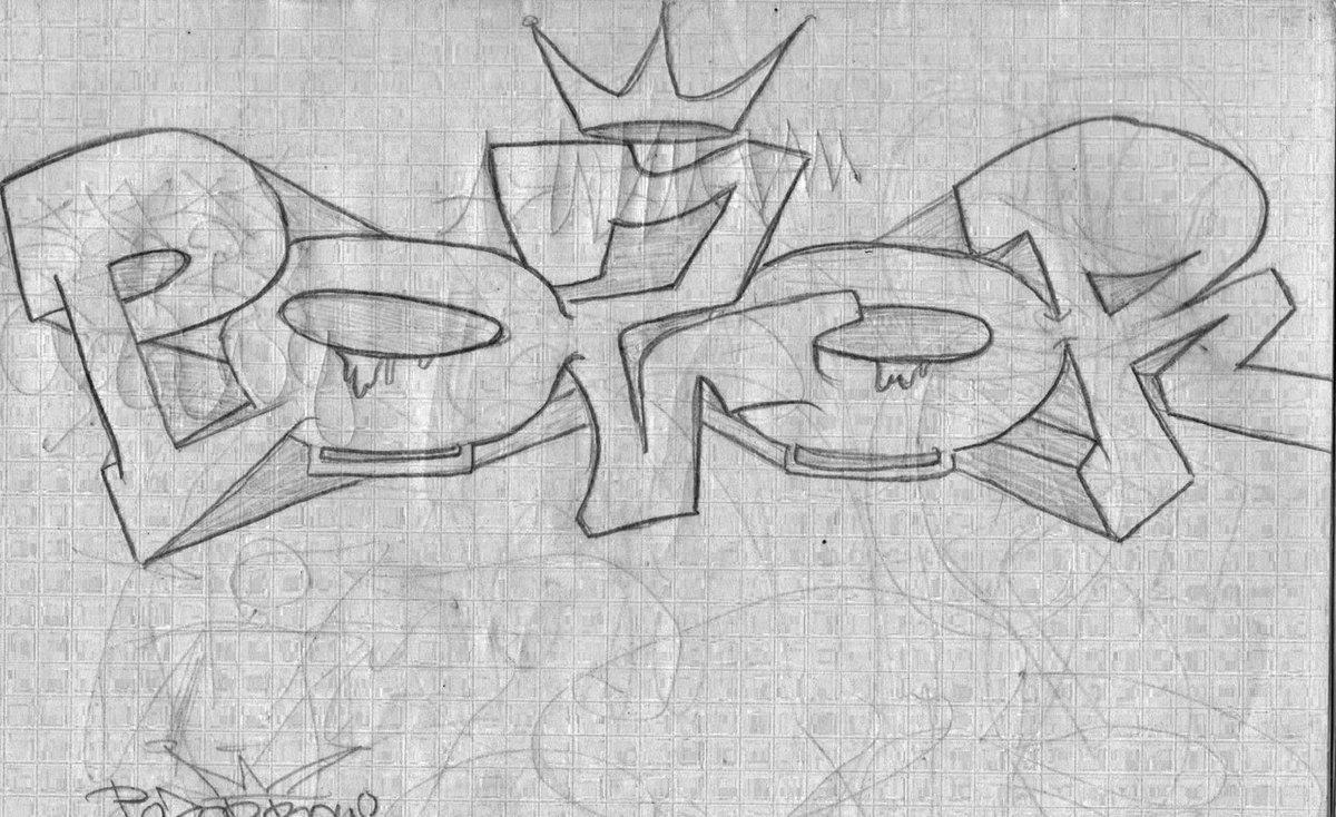 рисунки карандашом граффити на бумаге для начинающих легко