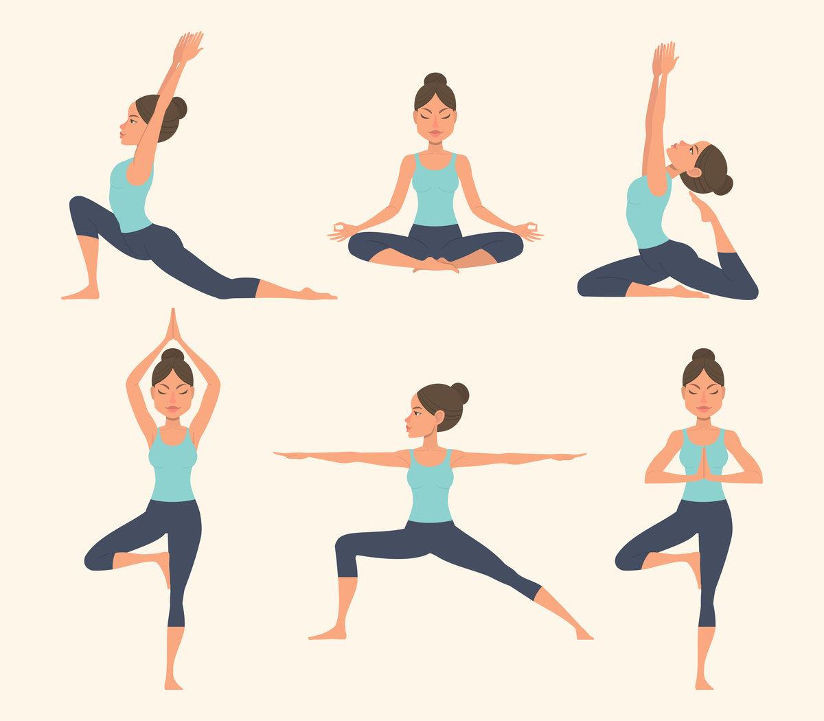 Уроки йоги в картинках для начинающих