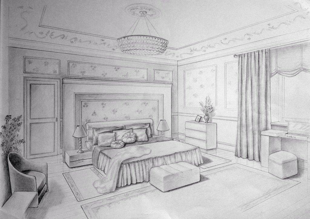 Картинки интерьера для срисовки