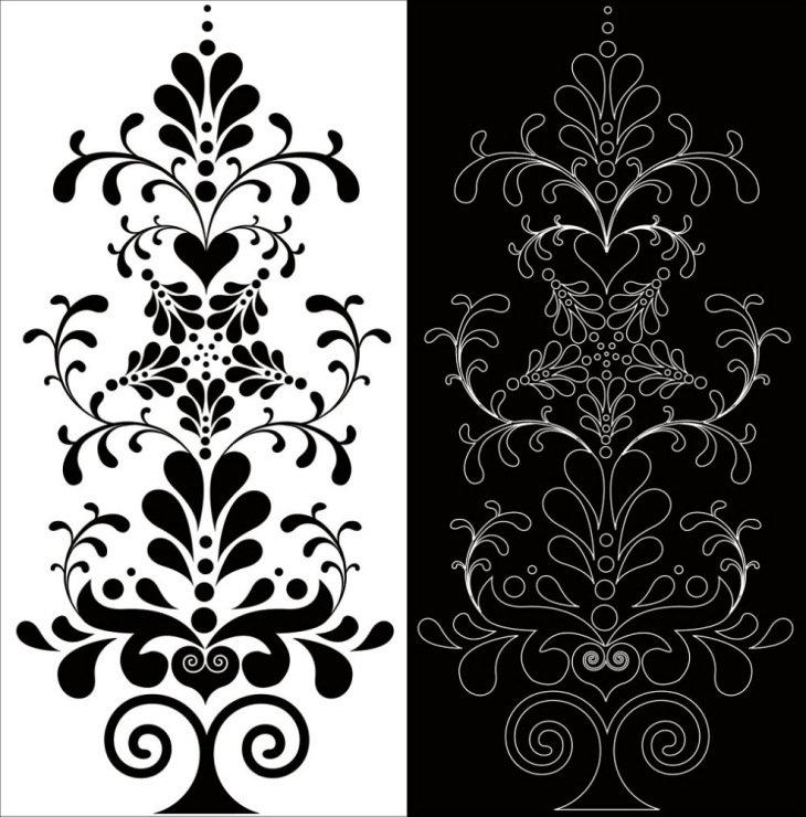 Черно-белые картинки и узоры