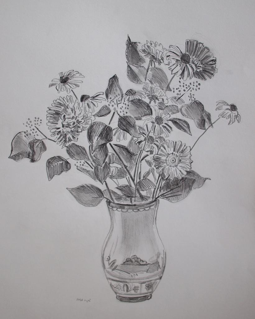 Картинки натюрморт карандашом цветы есенина, как