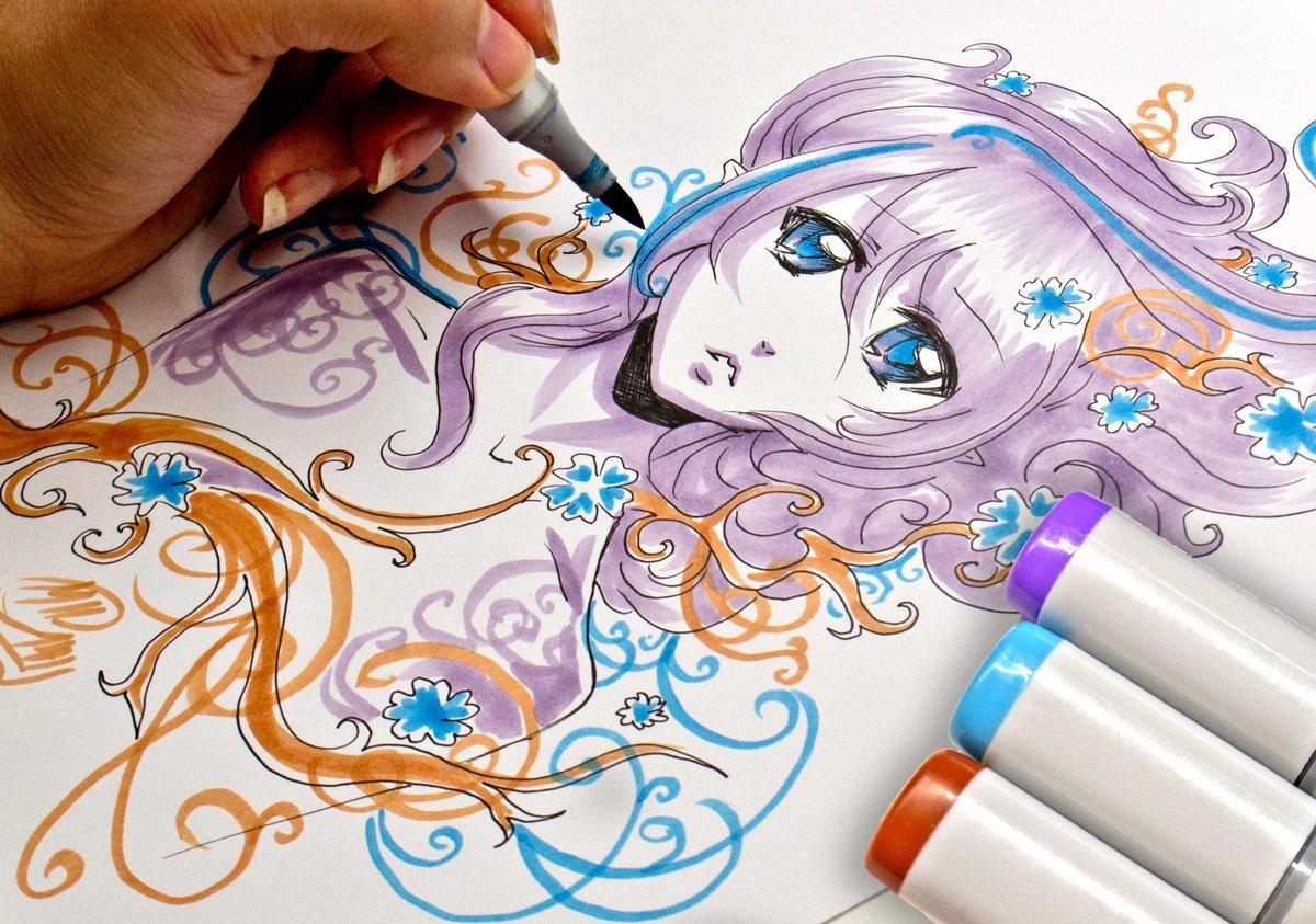 Как нарисовать открытку маркерами