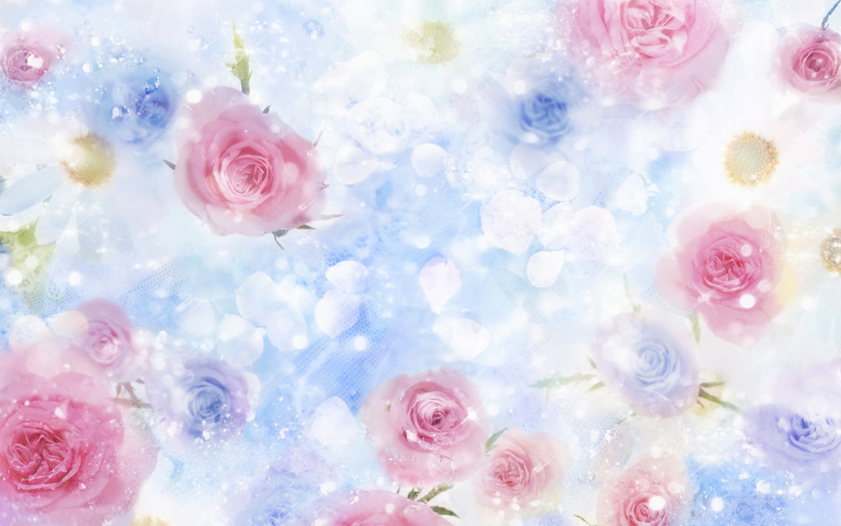 Открытки с цветочным фоном, днем