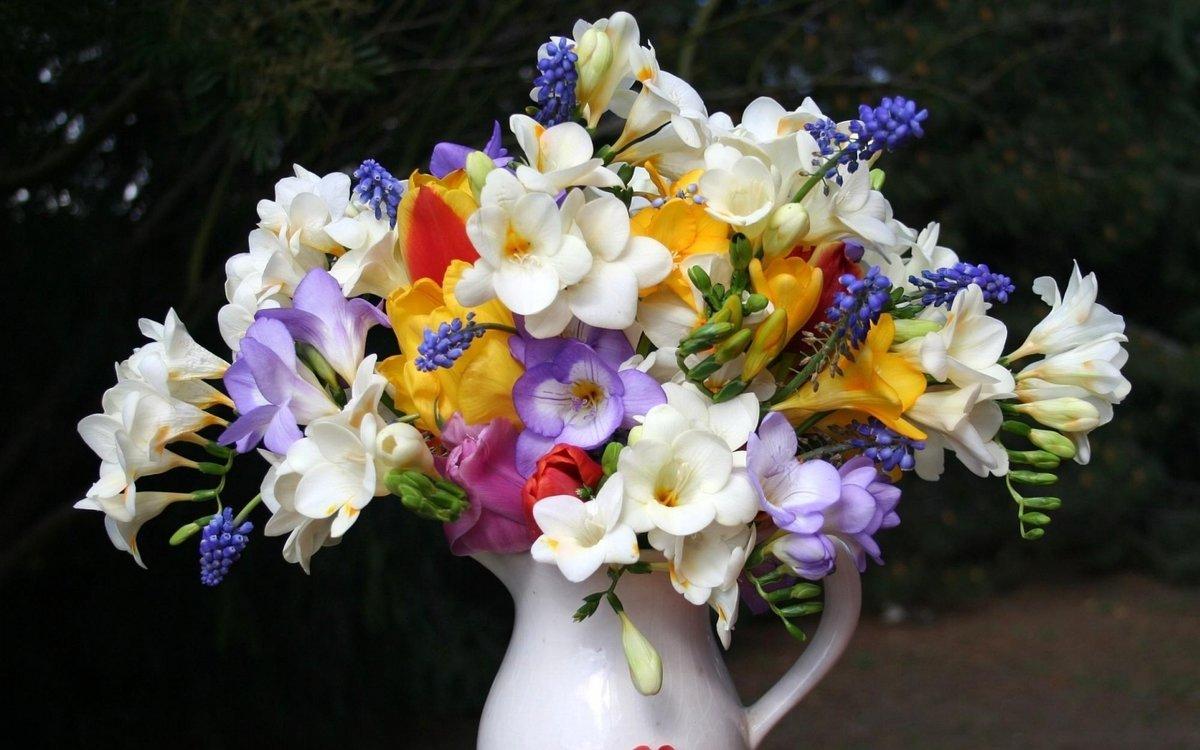 Картинки с букетом цветов фото