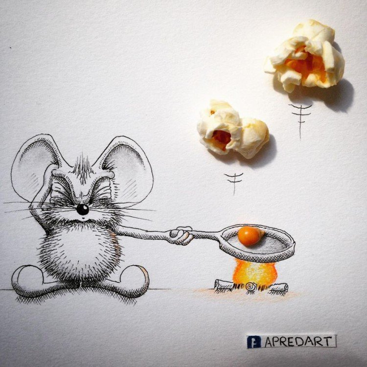 Мышки рисунки прикольные, маме день