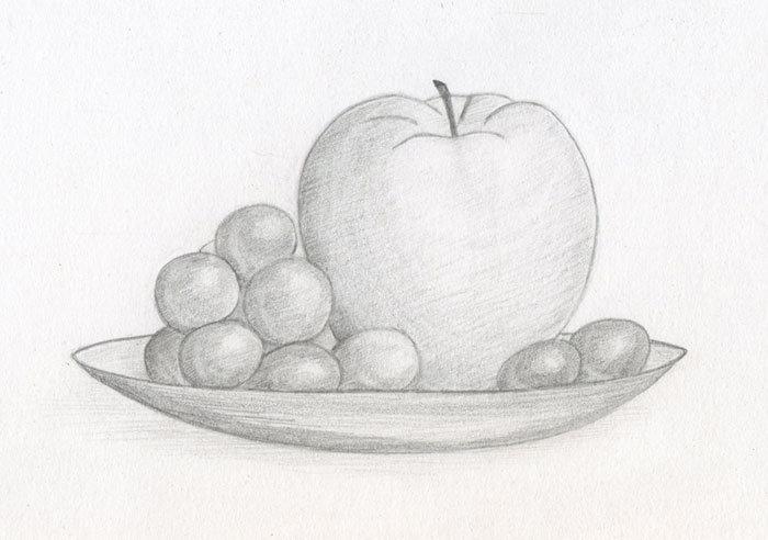 Картинки натюрморт карандашом поэтапно