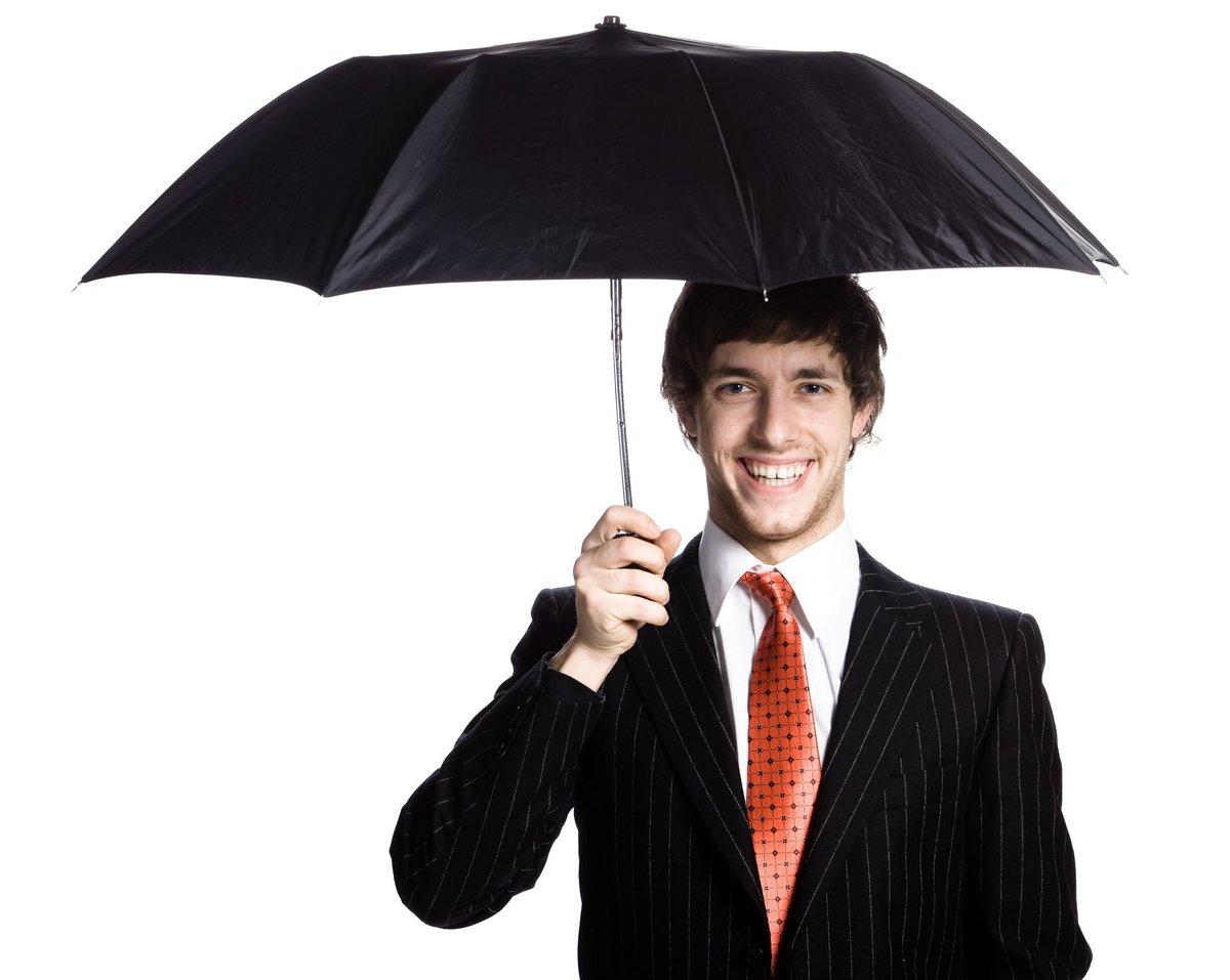 мужчина с зонтом картинка развиваясь