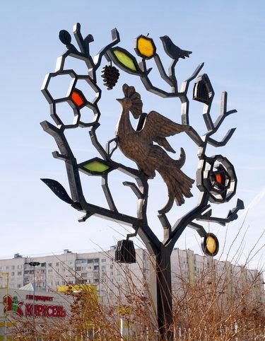 памятник дерево цветов