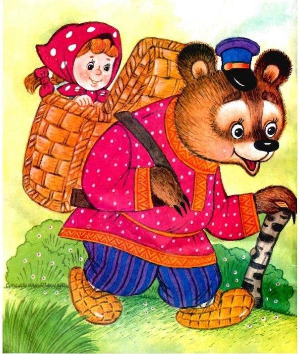 Маша из сказки маша и медведь картинки