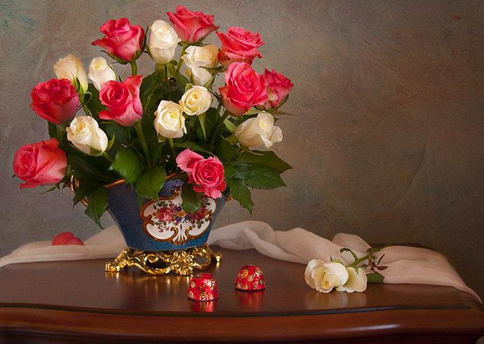 Приятного вечера картинка с цветами, февраля партнерам