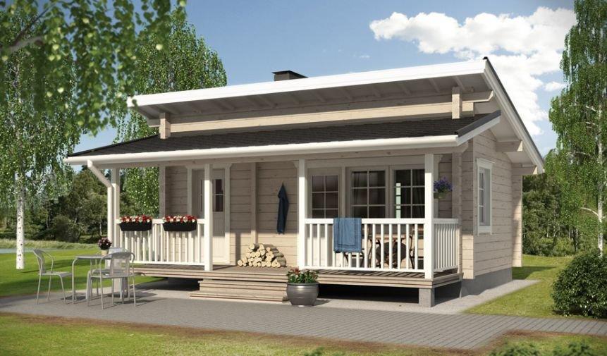 проекты финских домов с односкатной крышей