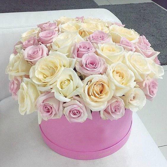 Днем, картинки с днем рождения девушке цветы в коробке