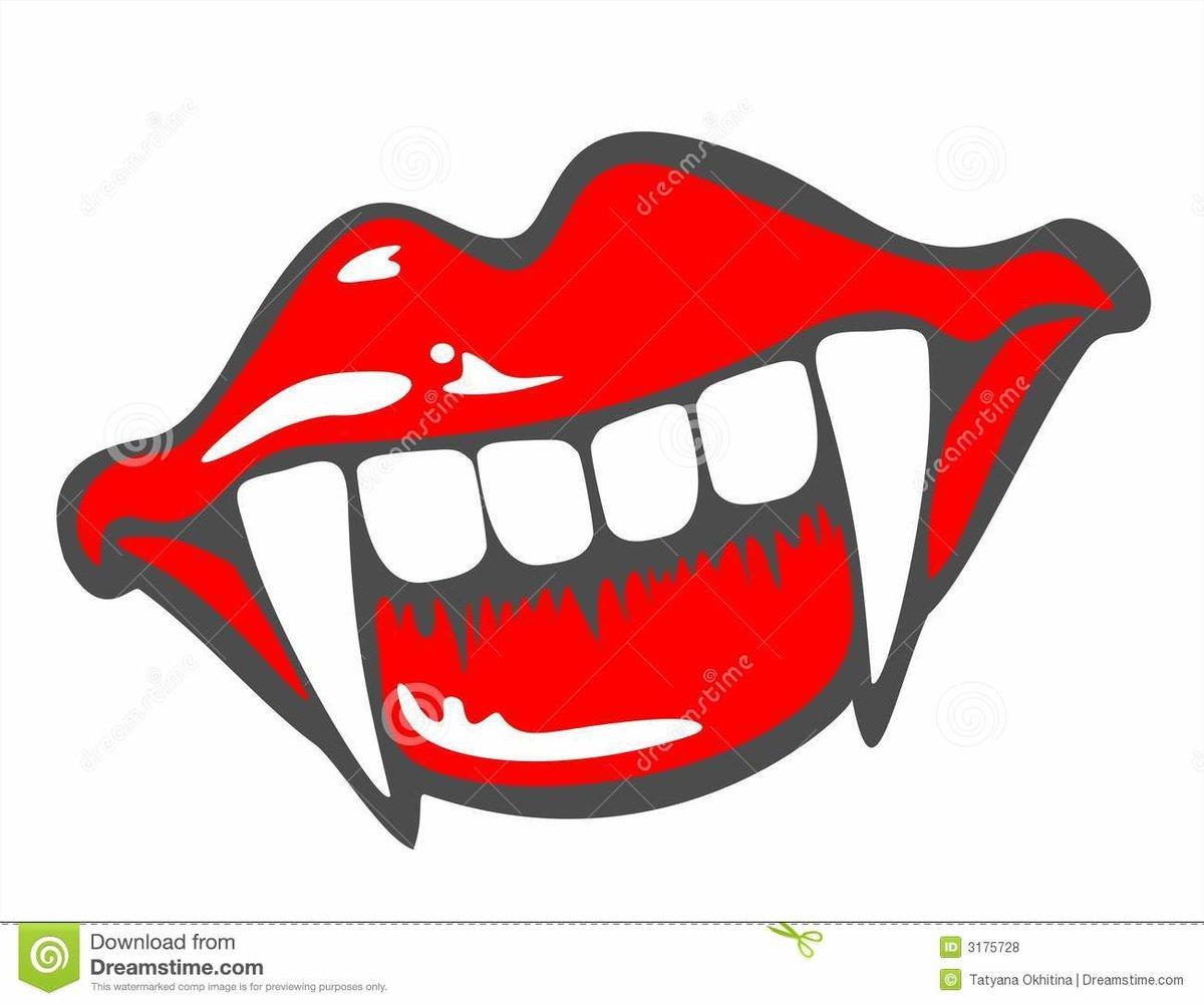 Vampire Teeth Clipart Related Keywords Suggestions Vampi Card