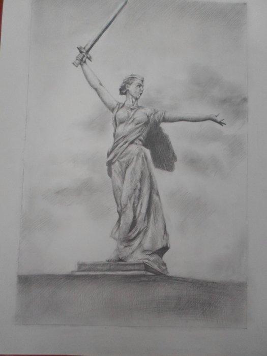 рисунок памятника карандашом наиболее