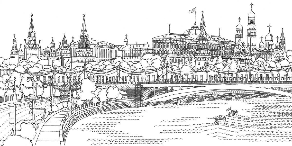 рисунок в москве реке достаточно просто