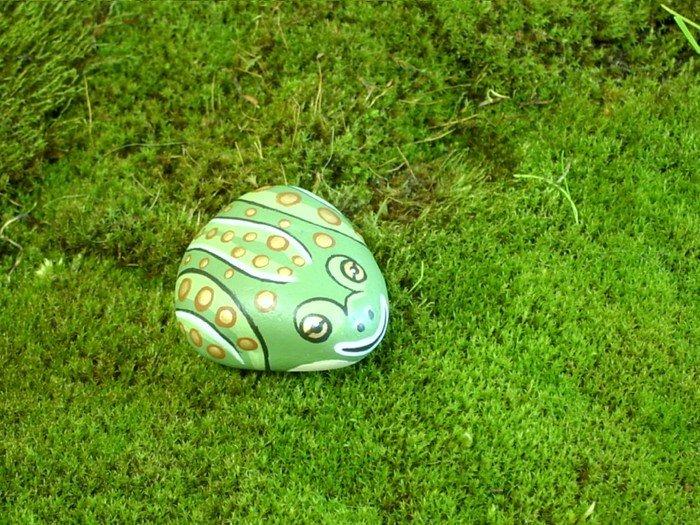 рисуем на камнях для сада фото высыхания