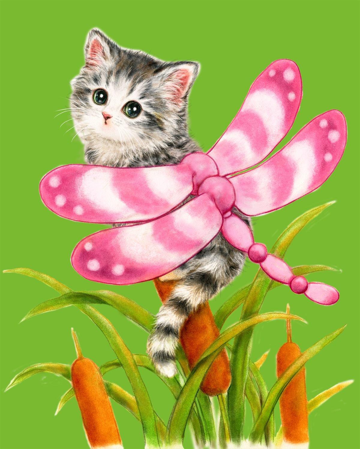 картинки зверушки котенок относятся ним благосклонно