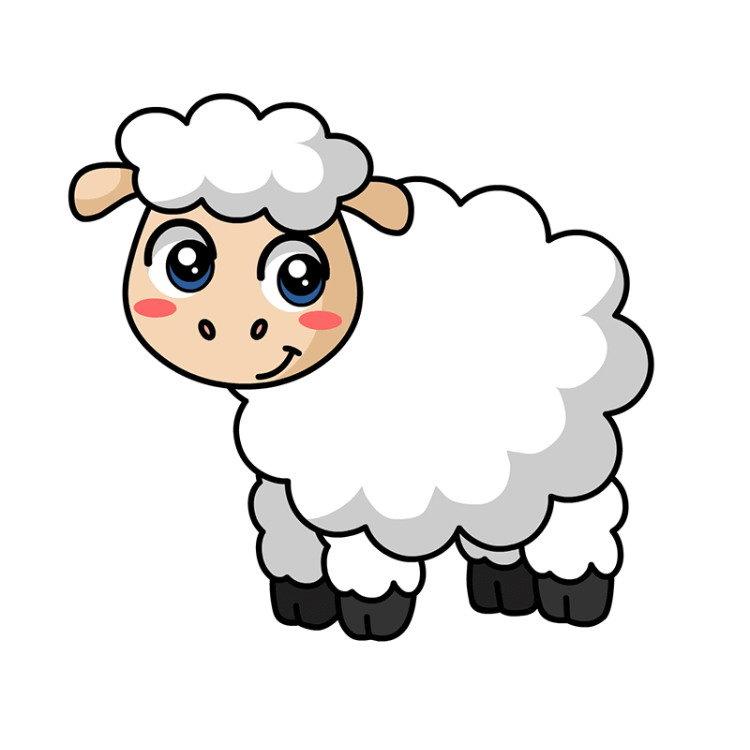Годик девочке, картинка овечки для детей