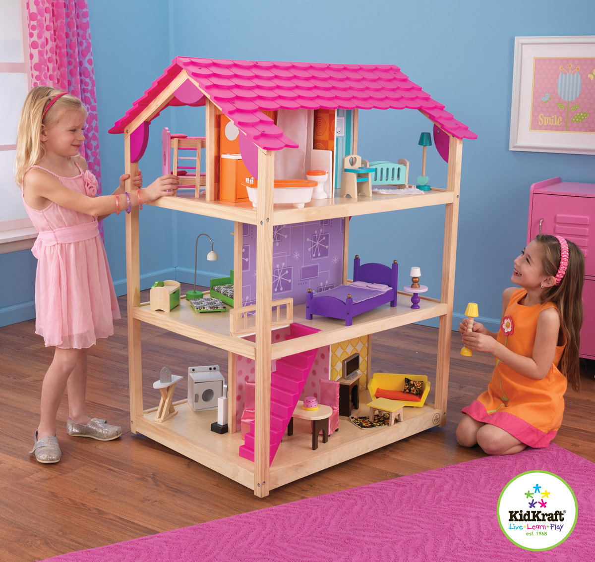 62 Kidkraft Dollhouse Furniture Set Savannah Dol