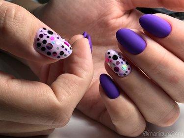 Шеллак На Круглые Ногти С Дизайном