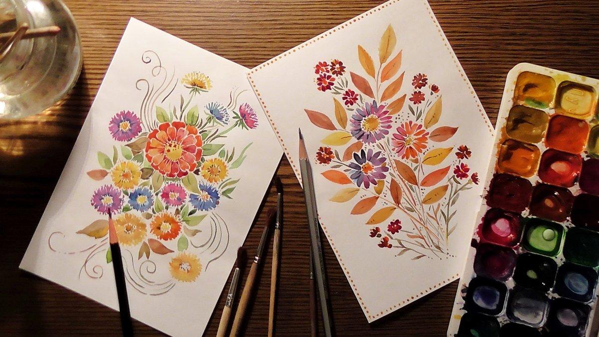 Что можно нарисовать на открытке своими руками, четверга