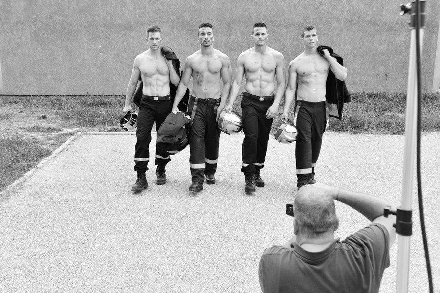 фотосессия французских пожарных