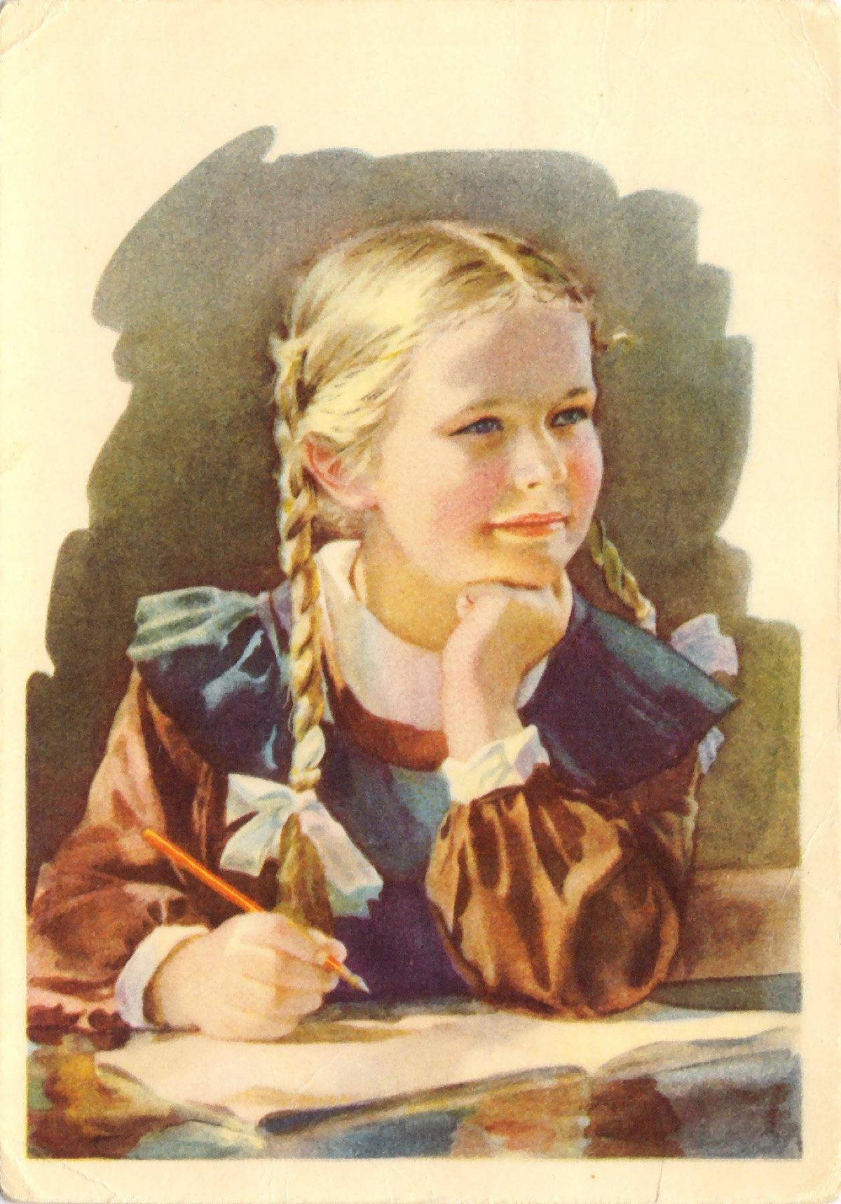 Ссср открытки про школу, что есть картинки