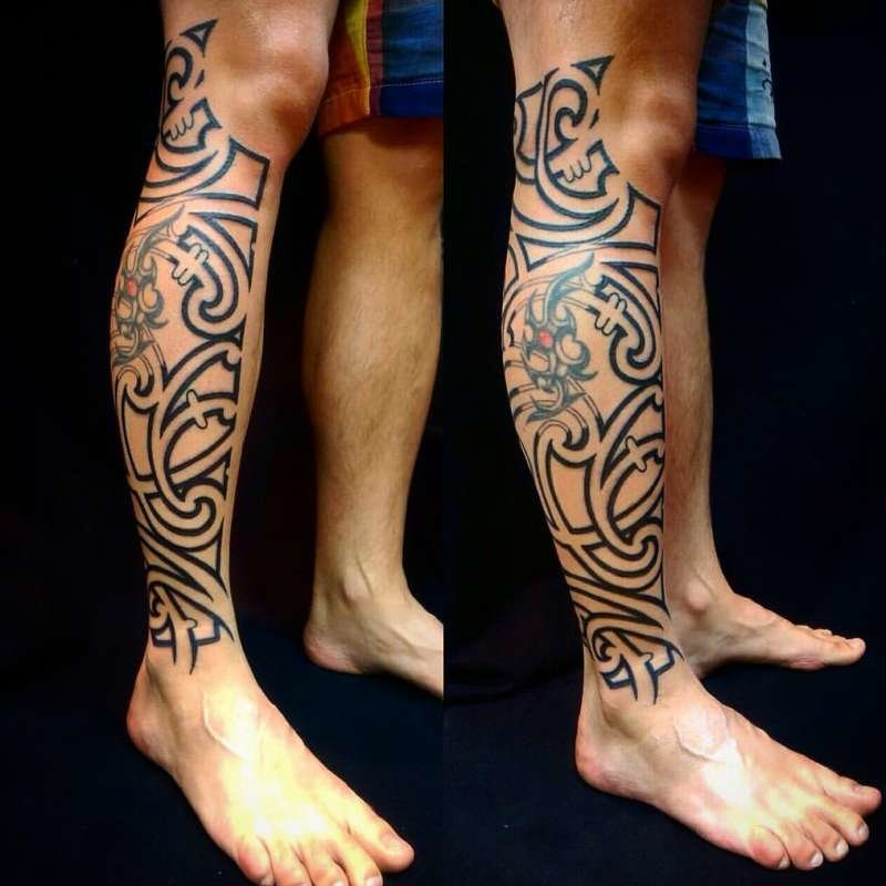 Картинки татуировок на ноге икра мужские