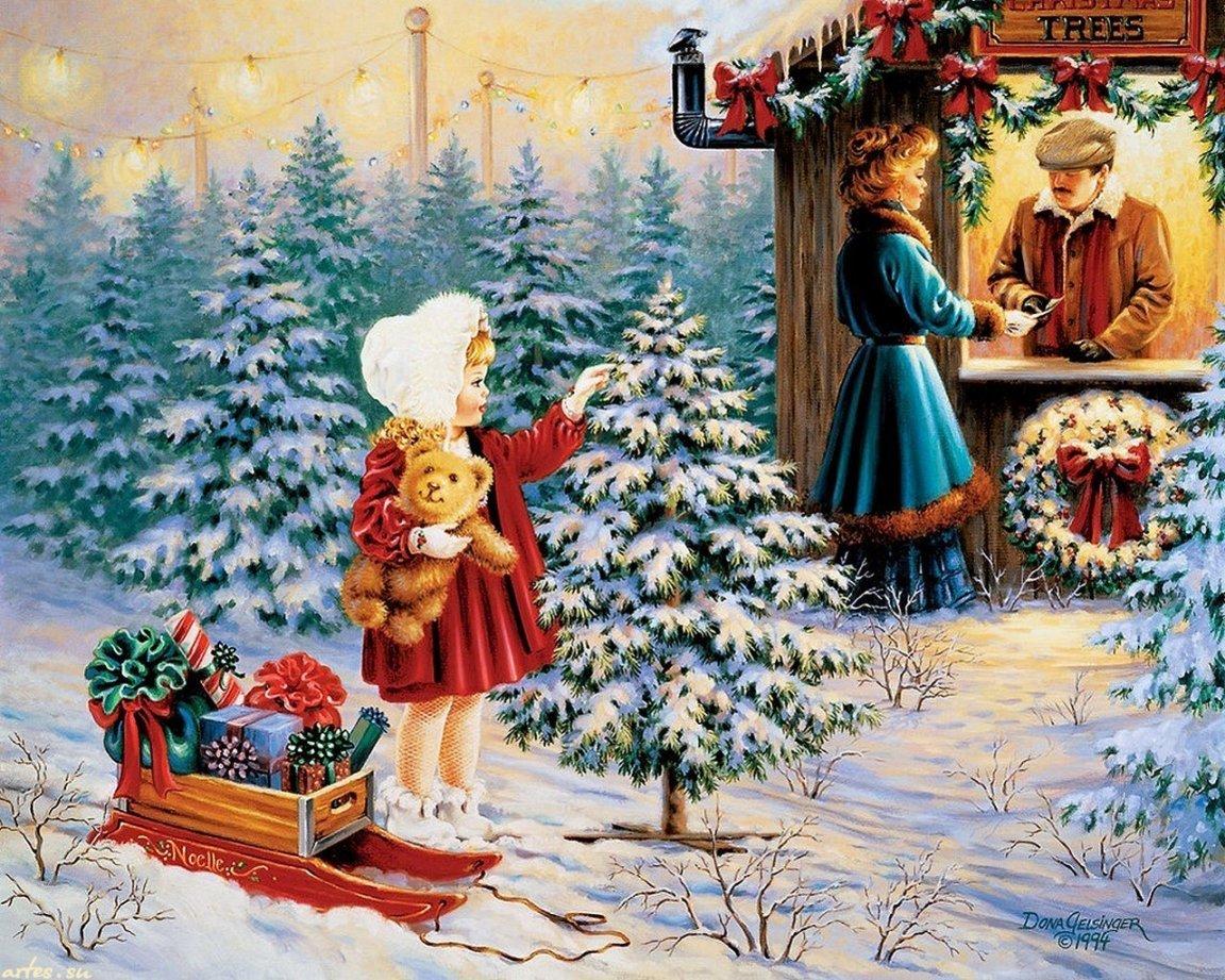 Картинки картинки, рождественские детские открытки