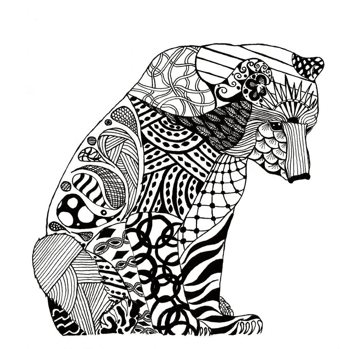 Графичные рисунки животных переходящие один в другой