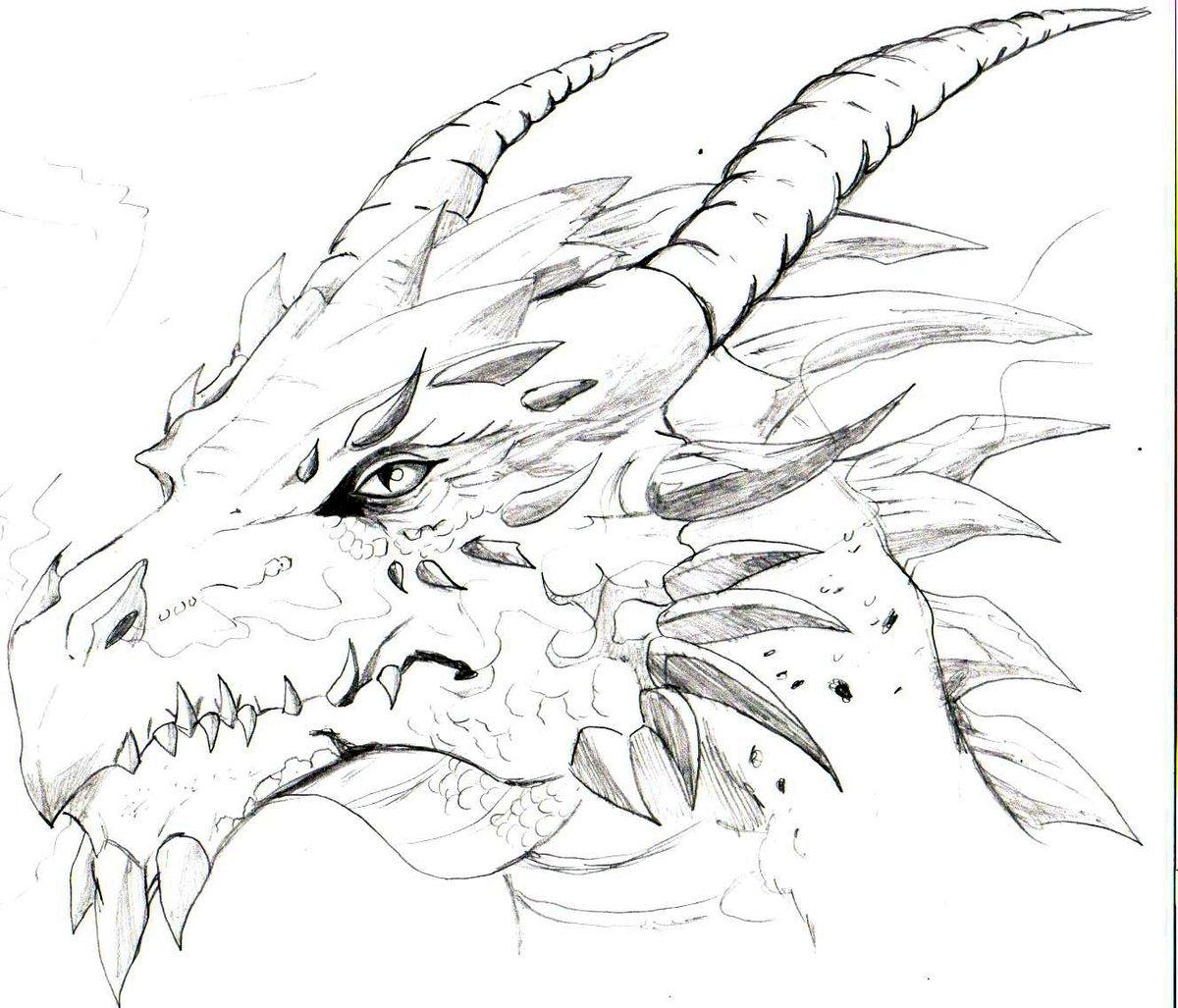 Крутые рисунки драконов простым карандашом, картинки надписями