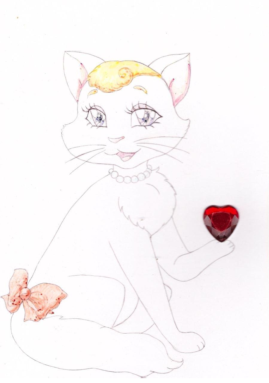 Нарисовать кота для открытки, фото для паспорта