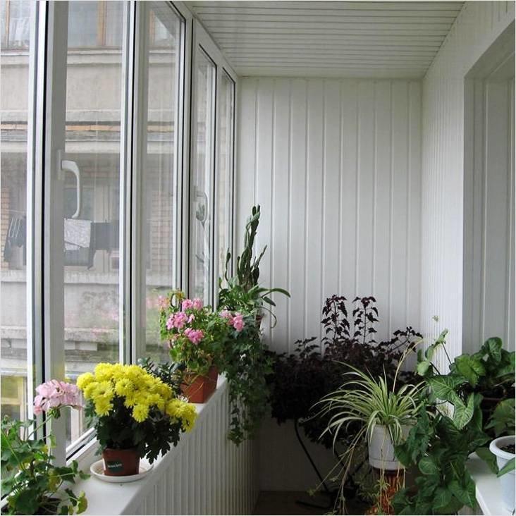 Балкон с цветами фото внутри