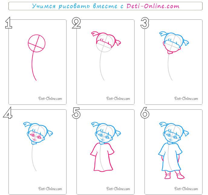 Настроением, как рисовать картинки поэтапно для девочек