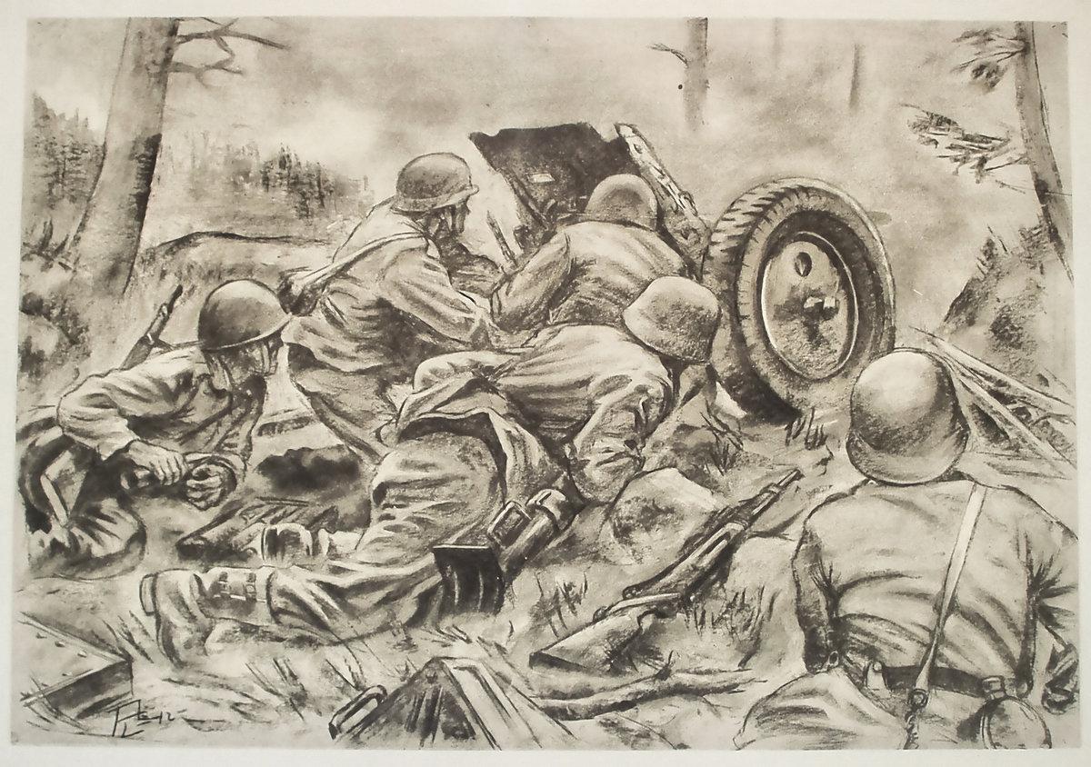 Военные действия рисунок карандашом, днем рождения женщине