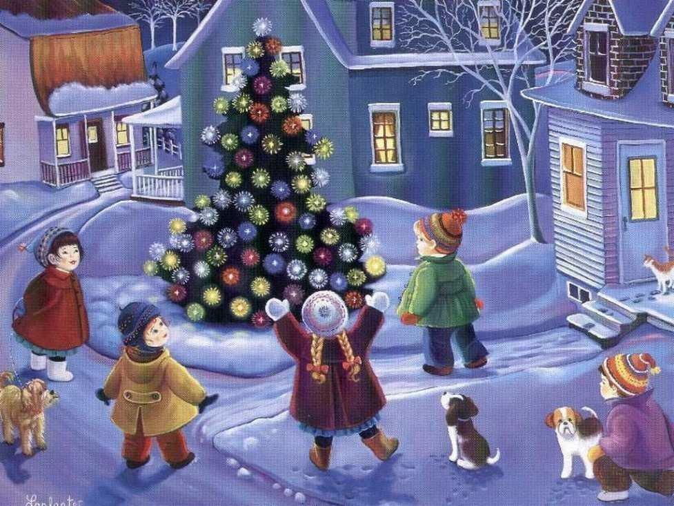 Картинки нового года для детей, открытки одноклассники днем