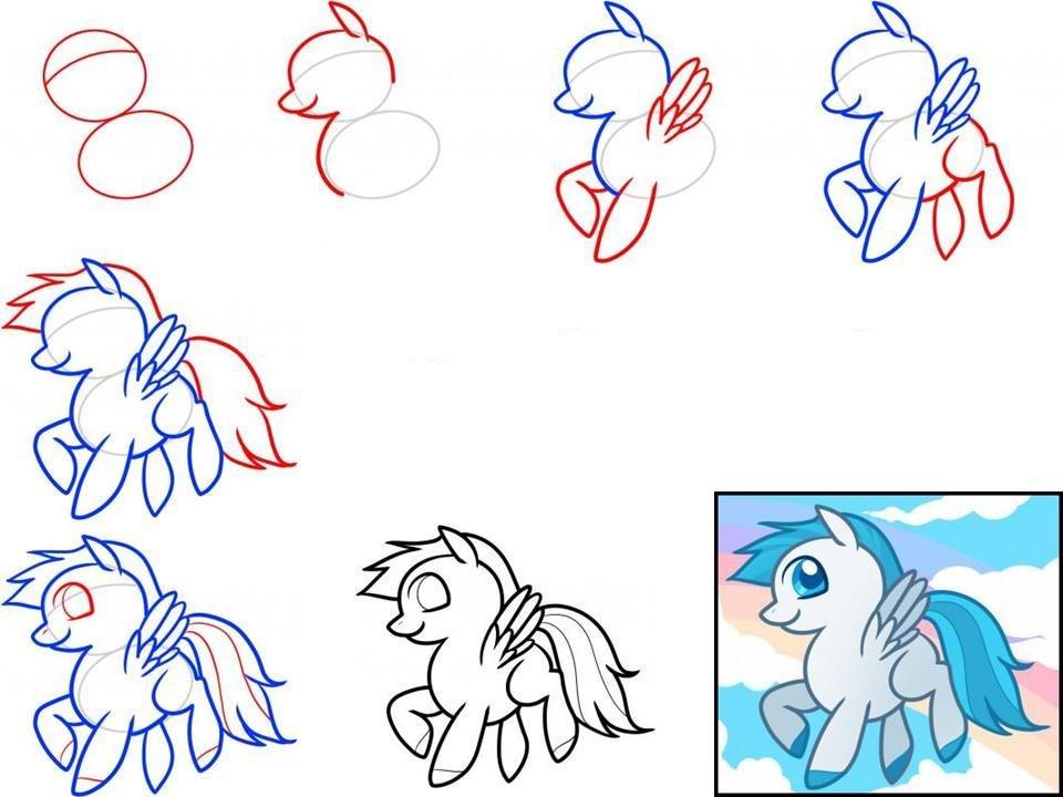 картинки рисуем пони поэтапно карандашом этой фазе