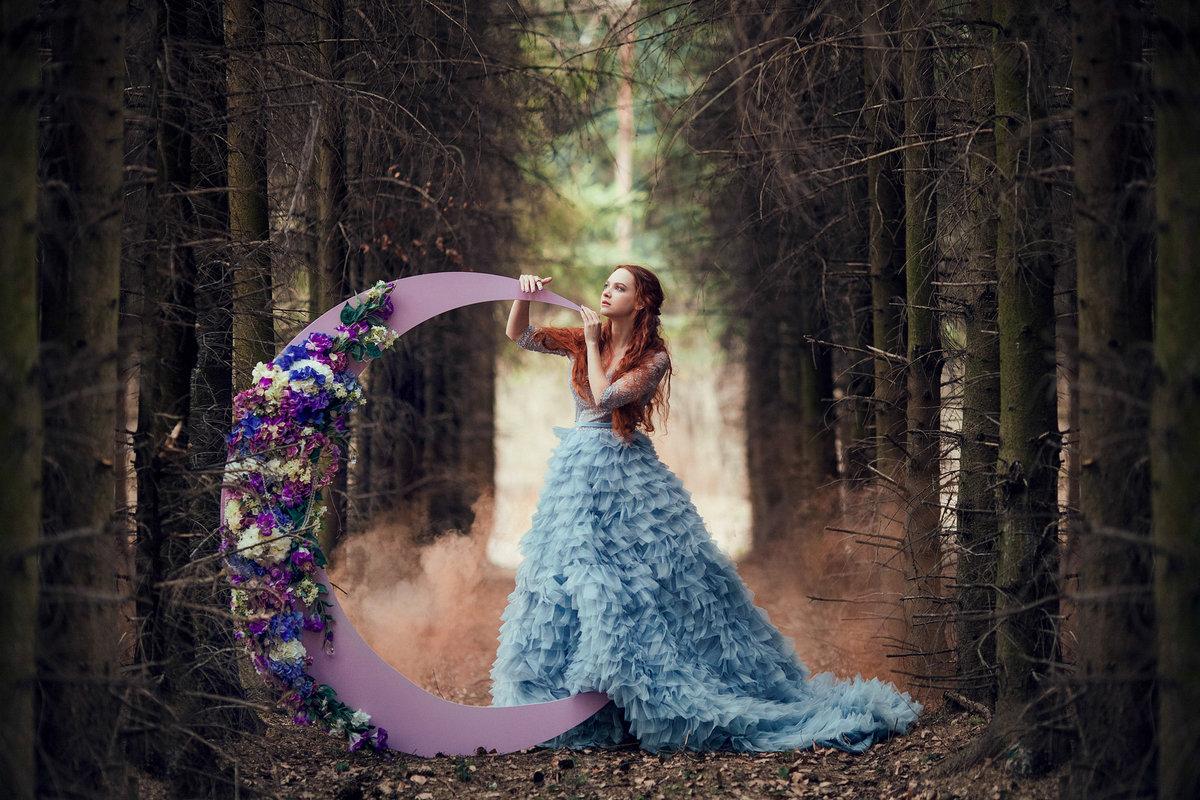 фотопроект с платьями эффекте полос уже