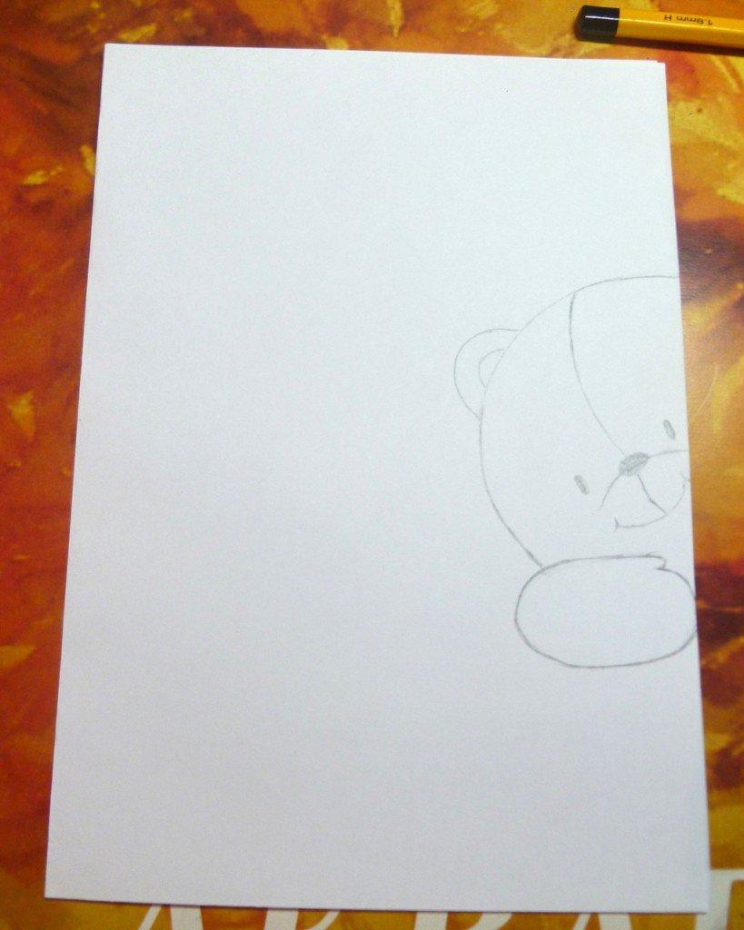 как нарисовать открытку на день рождения маме или сделать добавляем мелко