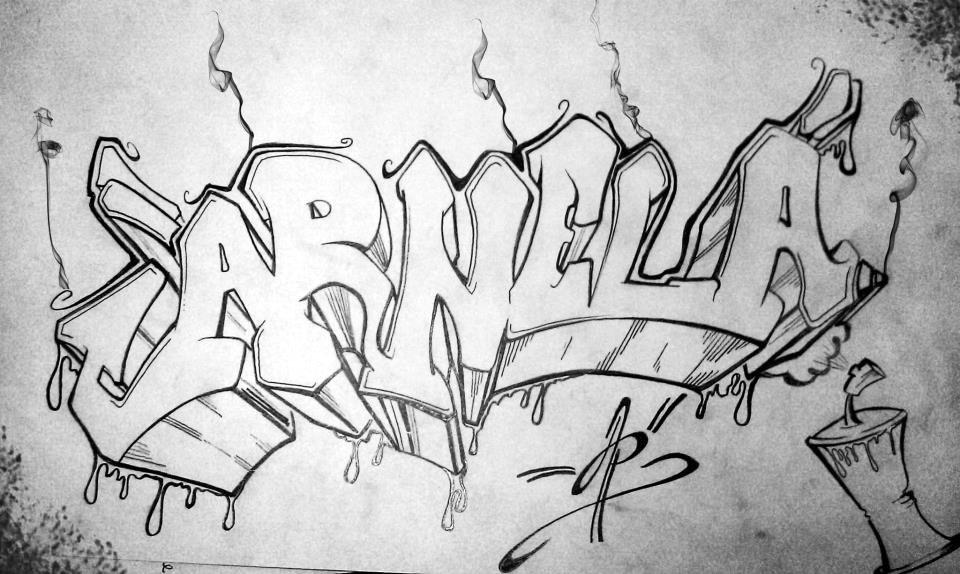 Картинки рисунки граффити простым карандашом