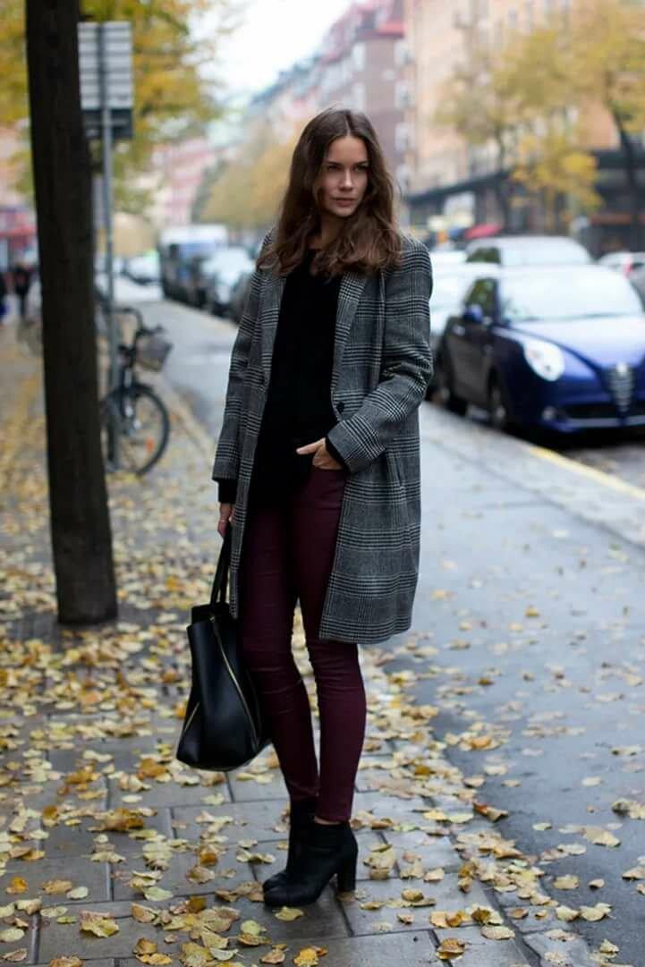 черное пальто куртку и брюки фото прическа лучше держалась