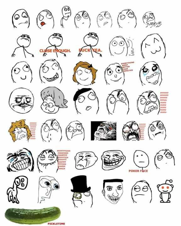 Все мемы лица в одной картинке
