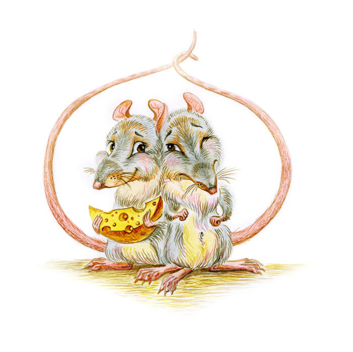 картинки новогодних мышей и крыс нас нет жизни