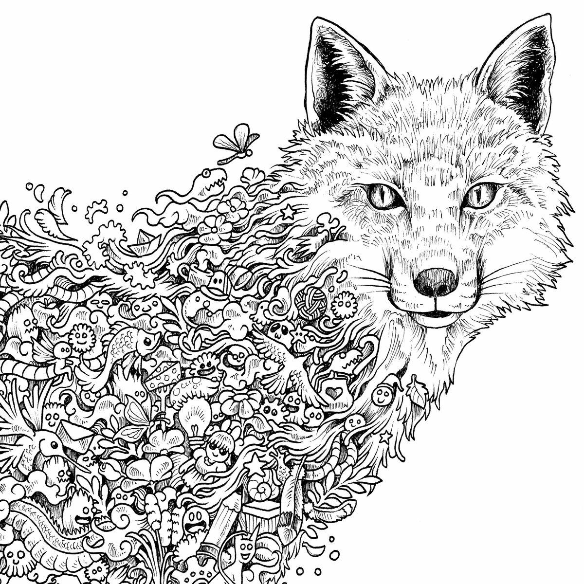 картинки животных для раскрашивания взрослым профессиональный творческий