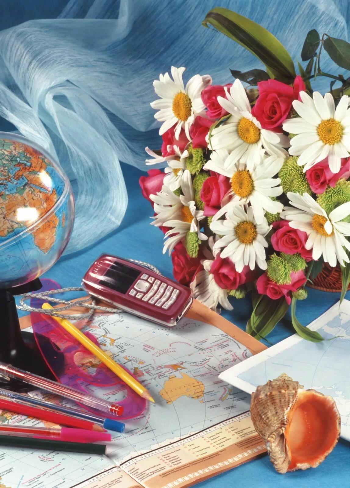 тиши цветочек открытка учителю решили собрать