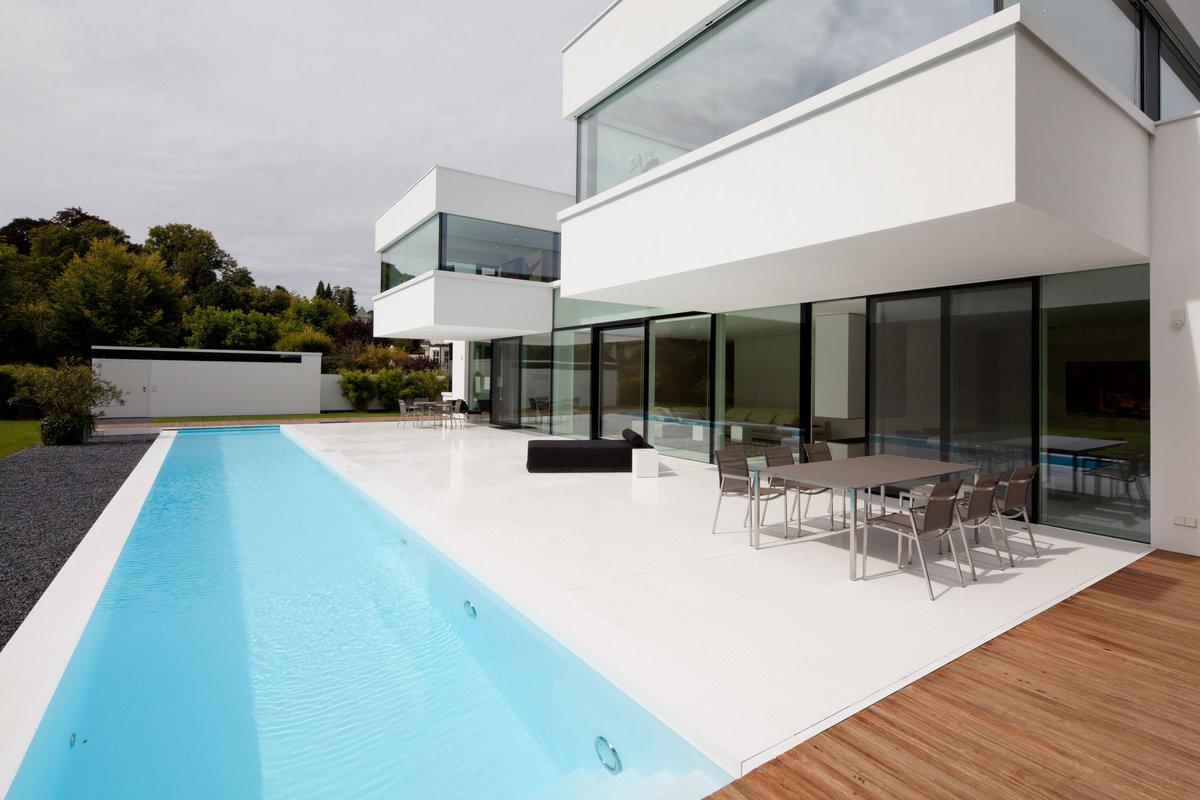 Дома в стиле хай тек пропроект проект дома хайтек с бассейно.