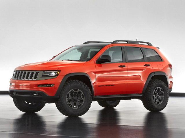 Jeep Grand Cherokee Trailhawk II Concept. На машину установили внедорожные шины диаметром 35 дюймов. Под капотом — дизельный V6.
